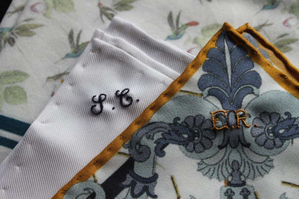 hand monogramming by the embroidery experts